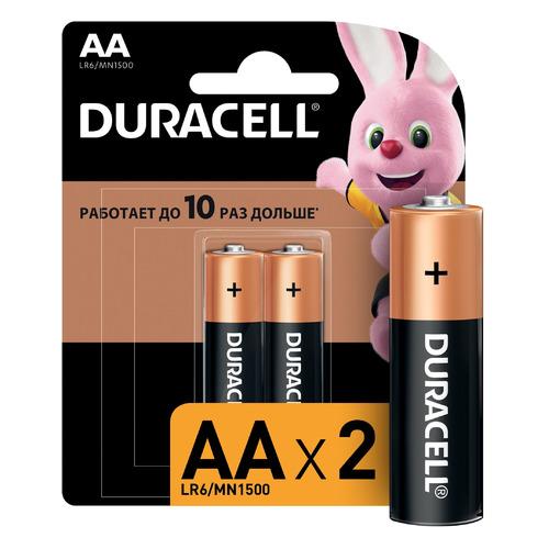 AA Батарейка DURACELL Basic CN LR6-2BL MN1500, 2 шт. батарейка aa duracell lr6 mn1500 2 штуки
