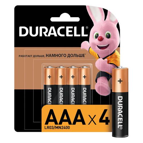 AAA Батарейка DURACELL Basic CN LR03-4BL MN2400, 4 шт. duracell aaa lr03 4bl ultra power 4шт