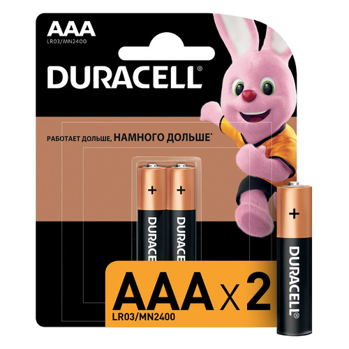 AAA Батарейка DURACELL Basic CN LR03-2BL, 2 шт. ak 100 mini 1 2 lcd display backlit portable digital scale 100g 0 01g 2 x aaa