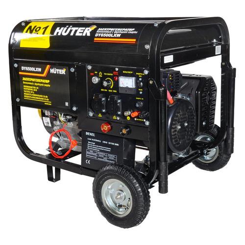 Бензиновый генератор HUTER DY6500LXW, 220 В, 5.5кВт [64/1/18] генератор бензиновый huter dy8000lх 3 64 1 28 15 л с 6 5 квт