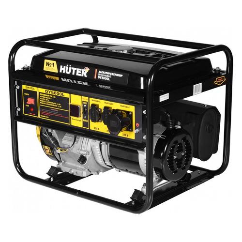 Бензиновый генератор HUTER DY8000L, 220 В, 5.5кВт [64/1/33] генератор бензиновый huter dy8000lх 3 64 1 28 15 л с 6 5 квт