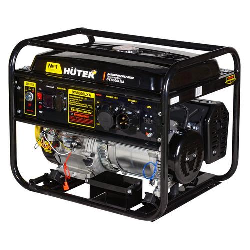 Бензиновый генератор HUTER DY8000LXA, 220 В, 7кВт [64/1/30] генератор бензиновый huter dy8000lх 3 64 1 28 15 л с 6 5 квт