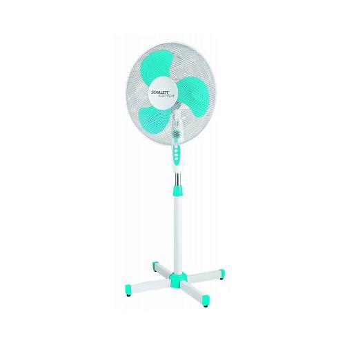 Вентилятор напольный SCARLETT SC-SF111B12, белый и голубой [sc - sf111b12] scarlett sc sf111b12 белый