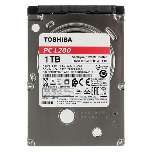 Жесткий диск TOSHIBA L200 Slim HDWL110UZSVA, 1Тб, HDD, SATA III, 2.5