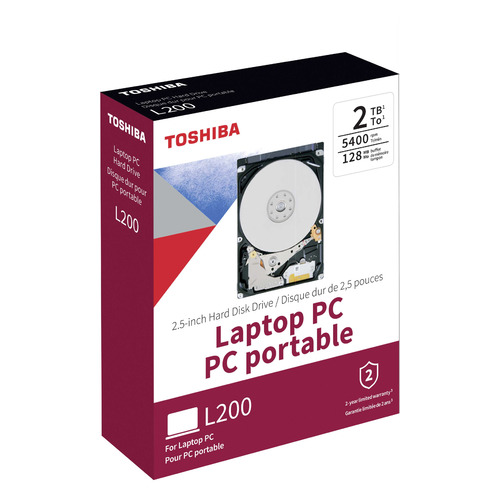 Жесткий диск TOSHIBA L200 HDWL120EZSTA, 2ТБ, HDD, SATA III, 2.5