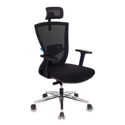 Кресло руководителя БЮРОКРАТ MC-815-H, на колесиках, ткань, черный [mc-815-h/b/fb01]