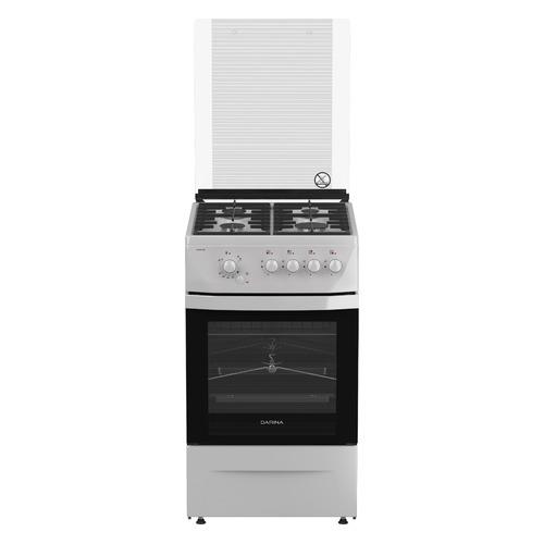 Газовая плита DARINA 1D1 GM 241 022 W, газовая духовка, белый газовая плита darina 1d1 км 241 311 w электрическая духовка белый