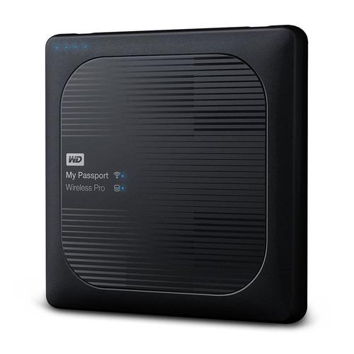 Фото - Внешний жесткий диск WD My Passport Wireless Pro WDBVPL0010BBK-RESN, 1ТБ, черный внешний жесткий диск 2 5 usb3 0 2 tb western digital my passport wireless pro wdbp2p0020bbk resn