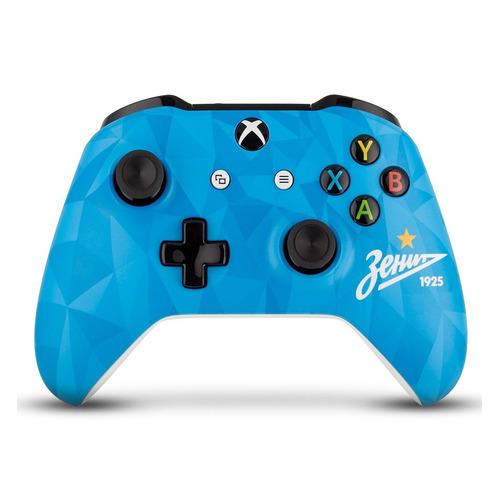 Геймпад Беспроводной Rainbo Зенит Северное Сияние, для Xbox One, голубой