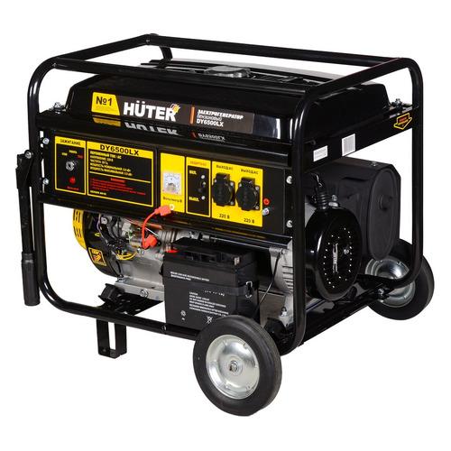 Бензиновый генератор HUTER DY6500 LX, 220 В, 5кВт [64/1/15]