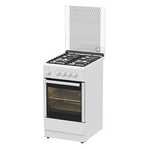 Газовая плита Darina 1F1 GM 241 008 W, газовая духовка, белый