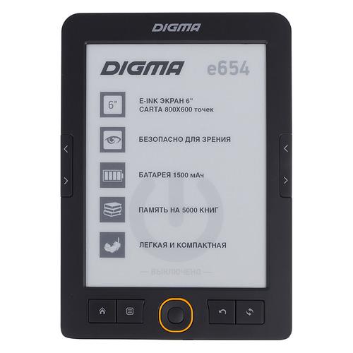 Электронная книга DIGMA E654, 6, графит цена