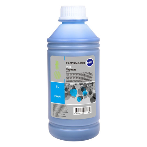 Чернила CACTUS CS-EPT6642-1000, 1000мл, голубой  - купить со скидкой