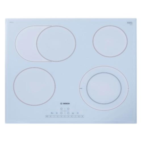 Варочная панель BOSCH PKN652FP1E, электрическая, независимая, белый варочная панель bosch pkn652fp1e электрическая независимая белый