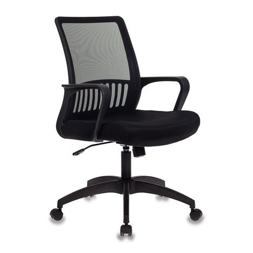 Кресло БЮРОКРАТ MC-201, на колесиках, ткань, черный [mc-201/tw-11] недорого