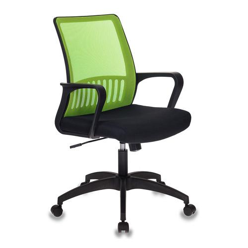 Кресло БЮРОКРАТ MC-201, на колесиках, ткань, салатовый/черный [mc-201/sd/tw-11]
