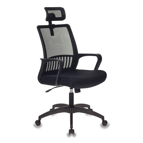 Кресло БЮРОКРАТ MC-201-H, на колесиках, ткань, черный [mc-201-h/tw-11]