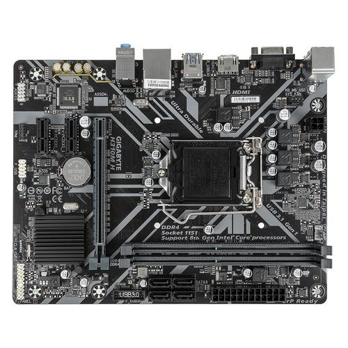 Материнская плата GIGABYTE H310M H, LGA 1151v2, Intel H310, mATX, Ret материнская плата gigabyte z370m ds3h lga 1151v2 intel z370 matx ret