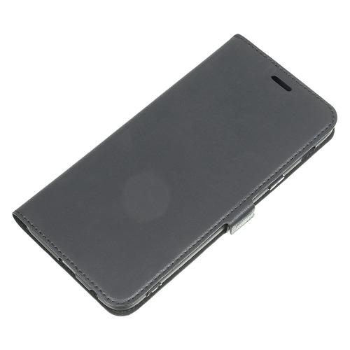 Чехол (клип-кейс) DF sFlip-30, для Samsung Galaxy A6+ (2018), черный  - купить со скидкой