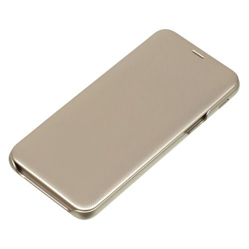 цена на Чехол (флип-кейс) SAMSUNG Wallet Cover, для Samsung Galaxy J6 (2018), золотистый [ef-wj600cfegru]