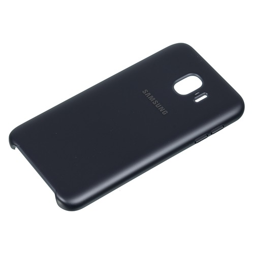 Чехол (клип-кейс) SAMSUNG Dual Layer Cover, для Samsung Galaxy J4 (2018), черный [ef-pj400cbegru] клип кейс samsung dual layer cover ef pj530 для galaxy j5 2017 черный