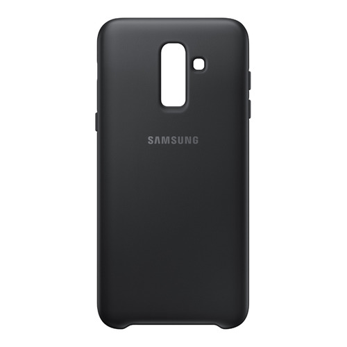 Чехол (клип-кейс) SAMSUNG Dual Layer Cover, для Samsung Galaxy J8 (2018), черный [ef-pj810cbegru]