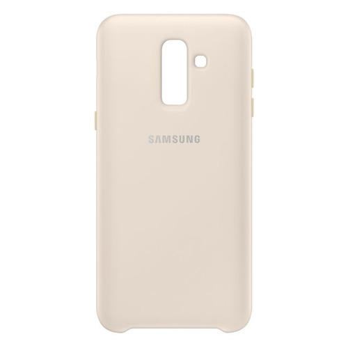 Чехол (клип-кейс) SAMSUNG Dual Layer Cover, для Samsung Galaxy J8 (2018), золотистый [ef-pj810cfegru] чехол флип кейс samsung для samsung galaxy a6 2018 wallet cover золотистый ef wa605cfegru