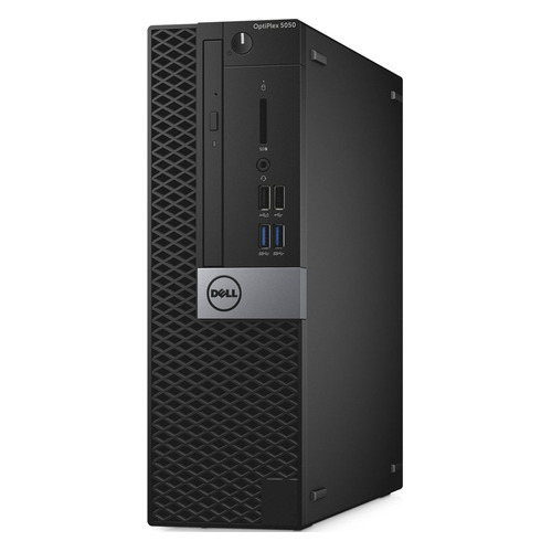 Компьютер DELL Optiplex 5050, Intel Core i7 7700, DDR4 8Гб, 500Гб, Intel HD Graphics 630, DVD-RW, Windows 10 Professional, черный и серебристый [5050-8192] настольный компьютер dell optiplex 5050 mt black silver 5050 8299 intel core i7 7700 3 6 ghz 8192mb 1000gb dvd rw intel hd graphics ethernet windows 10 pro 64 bit