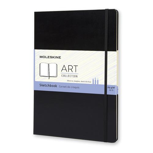 Блокнот для рисования Moleskine ART SKETCHBOOK A4 96стр. твердая обложка черный блокнот для рисования moleskine art sketchbook medium 115x180mm 72 листа black artqp054 1139405