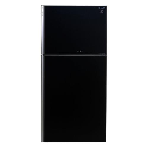 Холодильник SHARP SJ-XG60PGBK, двухкамерный, черное стекло все цены