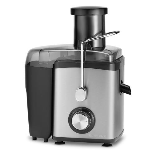 Соковыжималка VITEK VT-3653, центробежная, серебристый и черный [3653-vt] VT-3653 по цене 3 630