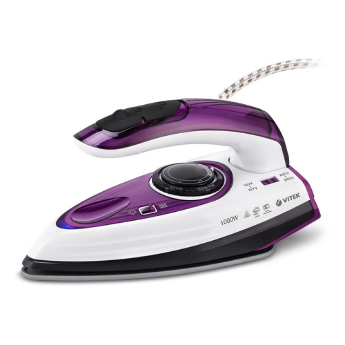 Утюг VITEK VT-8305 VT, 1000Вт, фиолетовый/ белый [8305-vt-01] отпариватель vitek vt 1287 vt белый фиолетовый