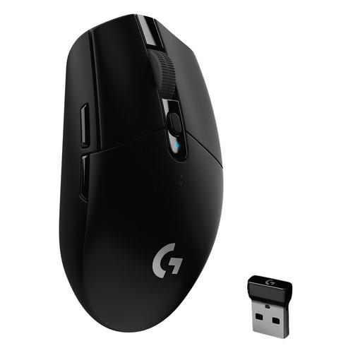 Мышь LOGITECH G305 Lightspeed, игровая, оптическая, беспроводная, USB, черный [910-005282] мышь logitech g502 lightspeed