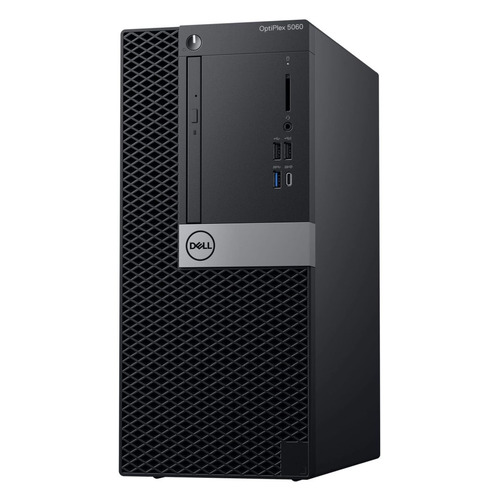 Компьютер DELL Optiplex 5060, Intel Core i7 8700, DDR4 8Гб, 1000Гб,  UHD Graphics 630, DVD-RW, Windows  Professional, черный [-7632]