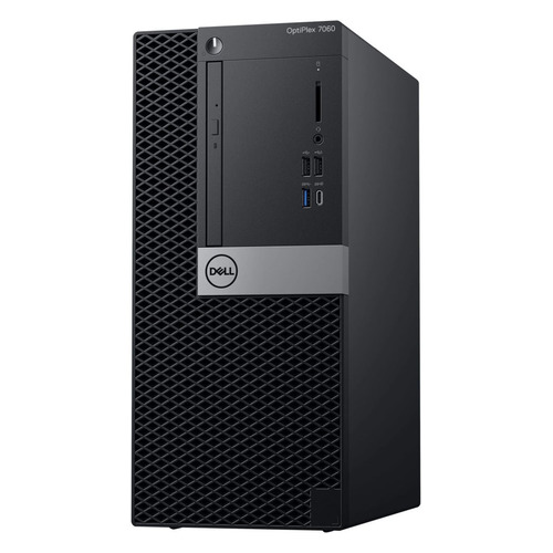 Компьютер DELL Optiplex 7060, Intel Core i7 8700, DDR4 16Гб, 1000Гб, Intel UHD Graphics 630, DVD-RW, Windows 10 Professional, черный и серебристый [7060-6108] процессор intel core i7 8700