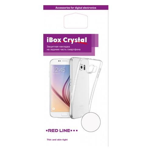 Чехол (клип-кейс) REDLINE iBox Crystal, для Samsung Galaxy A8, прозрачный [ут000014034] черный лев шаблон мягкий чехол тонкий тпу резиновый силиконовый гель чехол для samsung galaxy s5 i9600
