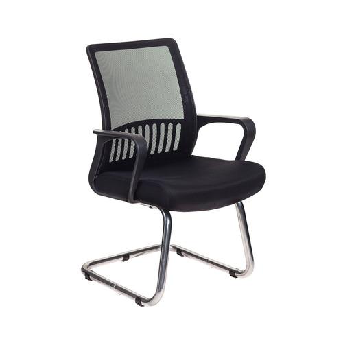Кресло БЮРОКРАТ MC-209, на полозьях, сетка/ткань, черный [mc-209/b/tw-11]