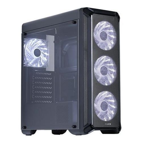 Корпус ATX Zalman i3, Midi-Tower, без БП, черный [i3 black] недорого