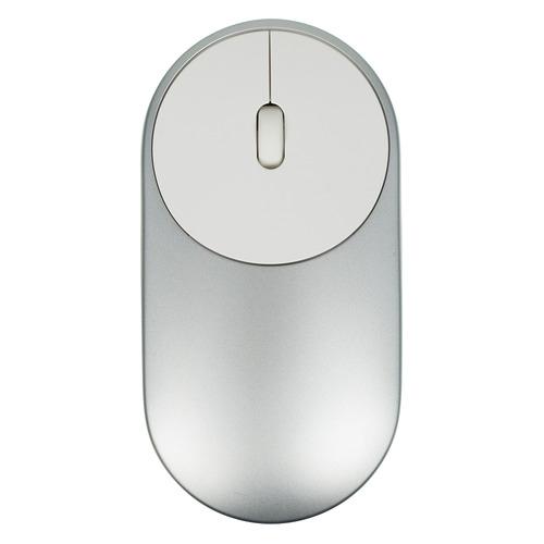 лучшая цена Мышь XIAOMI Mi Portable Mouse, оптическая, беспроводная, серебристый [hlk4007gl]