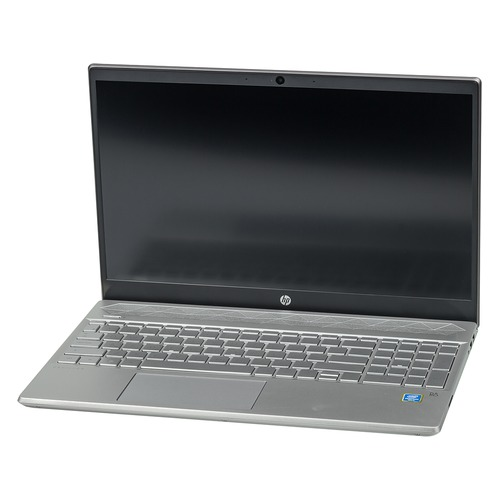 Ноутбук HP 15-cs0003ur, 15.6, Intel Pentium 4415U 2.3ГГц, 4Гб, 1000Гб, Intel HD Graphics 610, Windows 10, 4GP07EA, серебристый