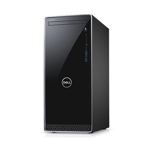 Компьютер DELL Inspiron 3670, Intel Core i7 8700, DDR4 8Гб, 1000Гб, 128Гб(SSD), NVIDIA GeForce GTX 1050Ti - 4096 Мб, DVD-RW, Windows 10 Home, черный [3670-6610] компьютер msi vortex g25 8re 033ru intel core i7 8700 ddr4 16гб 1000гб 256гб ssd nvidia geforce gtx 1070 8192 мб windows 10 черный [9s7 1t3111 033]