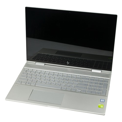 Ноутбук-трансформер HP Envy x360 15-cn0007ur, ., IPS, Intel Core i5 8250U .6ГГц, 8Гб, 1000Гб, 128Гб SSD, nVidia GeForce Mx150 - 4096 Мб, Windows , 4HE30EA, серебристый