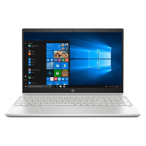 Ноутбук HP Pavilion 15-cs0022ur, 15.6, IPS, Intel Core i5 8250U 1.6ГГц, 4Гб, 16Гб Intel Optane, 1000Гб, nVidia GeForce Mx150 - 2048 Мб, Windows 10, 4JV00EA, серебристый cy m004