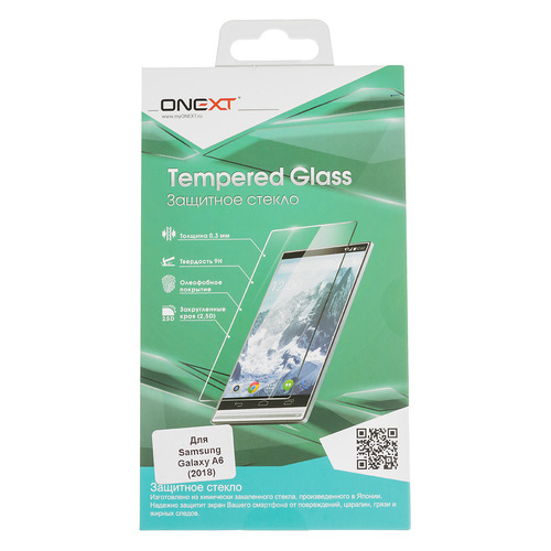 цена на Защитное стекло для экрана ONEXT для Samsung Galaxy A6 2018, 1 шт [41745]