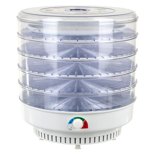 Сушилка для овощей и фруктов СПЕКТР-ПРИБОР Ветерок-2, прозрачный, 5 поддонов