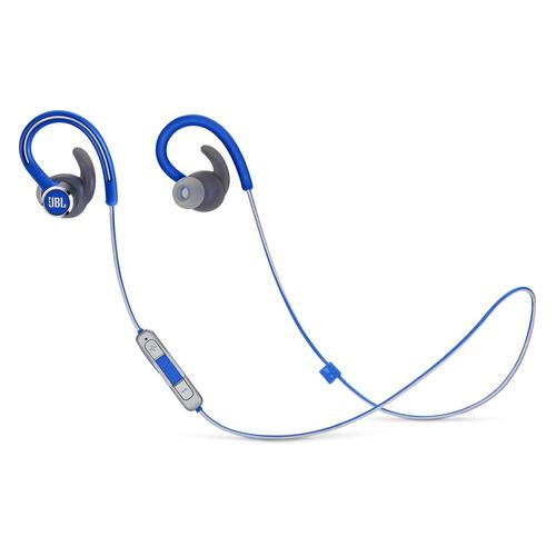 Фото - Наушники с микрофоном JBL Reflect Contour 2, Bluetooth, вкладыши, синий [jblrefcontour2blu] bt наушники гарнитура вкладыши jbl reflect mini2 бирюзовый jblrefmini2tel