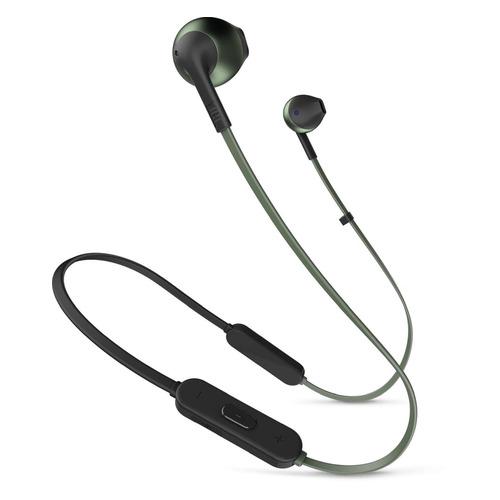Наушники с микрофоном JBL T205BT, Bluetooth, вкладыши, зеленый [jblt205btgrn] гарнитура jbl reflect mini 2 вкладыши зеленый беспроводные bluetooth