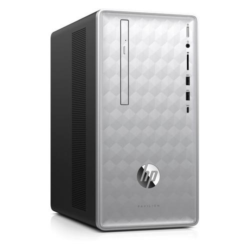 купить Компьютер HP Pavilion 590-p0009ur, Intel Core i5 8400, DDR4 8Гб, 1000Гб, 16Гб Intel Optane, NVIDIA GeForce GTX 1050 - 2048 Мб, DVD-RW, CR, Windows 10, серебристый и черный [4gl52ea] по цене 51840 рублей