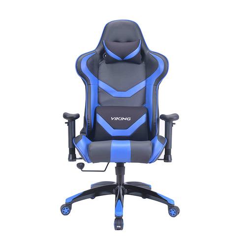 Кресло игровое БЮРОКРАТ CH-772N, на колесиках, искусственная кожа, черный/синий [ch-772n/bl+blue] кресло игровое бюрократ ch 776 на колесиках искусственная кожа [ch 776 bl r]