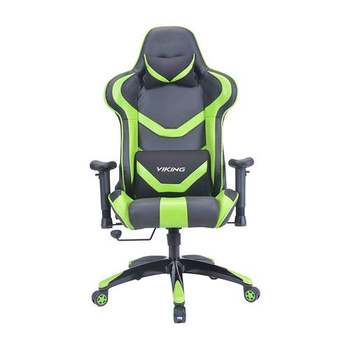 Кресло игровое БЮРОКРАТ CH-772N, на колесиках, искусственная кожа [ch-772n/bl+green] кресло игровое бюрократ ch 776 на колесиках искусственная кожа [ch 776 bl r]